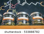 medical marijuana jars against... | Shutterstock . vector #533888782