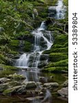 A view of Buttermilk Falls in Stokes State Forest, North Western New Jersey. - stock photo