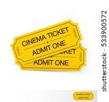 set of cinema tickets. vector... | Shutterstock .eps vector #533900572
