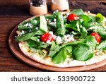 goat cheese salad served on... | Shutterstock . vector #533900722