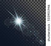 light flare or star explosion... | Shutterstock .eps vector #533901946