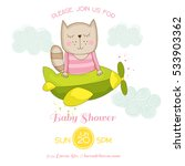baby shower or arrival card.... | Shutterstock .eps vector #533903362