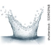 water splash in gray colors ... | Shutterstock . vector #533903968
