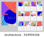 2017 art hand drawn calendar.... | Shutterstock .eps vector #533904106