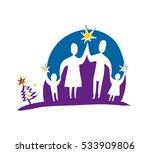 family holidays concept vector... | Shutterstock .eps vector #533909806