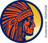 vector illustration of a native ... | Shutterstock .eps vector #53391028