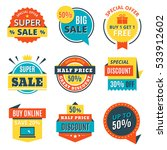 flat sale banners  labels ... | Shutterstock .eps vector #533912602