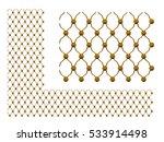 golden ornamental map for... | Shutterstock . vector #533914498
