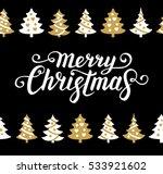 merry christmas text.... | Shutterstock .eps vector #533921602