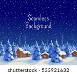 winter seamless background with ...
