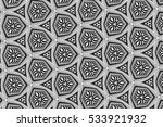 black and white ornament with... | Shutterstock . vector #533921932