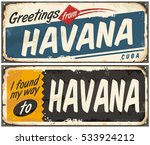 greetings from havana cuba.... | Shutterstock .eps vector #533924212