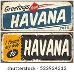 greetings from havana cuba.... | Shutterstock .eps vector #533924212