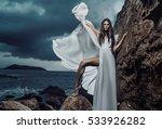 stunning brunette beauty posing ... | Shutterstock . vector #533926282