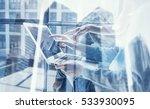 closeup view of coworking team... | Shutterstock . vector #533930095