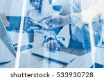 double exposure concept.group... | Shutterstock . vector #533930728