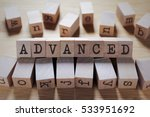 Small photo of Advanced Word In Wooden Cube