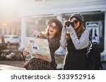 happy travel together of two... | Shutterstock . vector #533952916