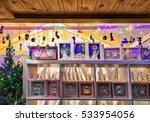 various xmas tree decorations... | Shutterstock . vector #533954056