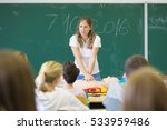 instructor teaching first aid... | Shutterstock . vector #533959486