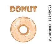 cute isolated donut. tasty...   Shutterstock .eps vector #533959726