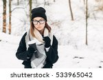 portrait of a beautiful girl... | Shutterstock . vector #533965042