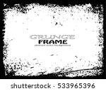 grunge frame. vector template | Shutterstock .eps vector #533965396
