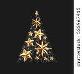 gold stars christmas tree to... | Shutterstock . vector #533967415