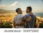 back view of homosexual couple...   Shutterstock . vector #533972002