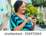 senior brazillian reading a...   Shutterstock . vector #533972065