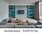 room in a modern style with...   Shutterstock . vector #533974726