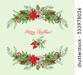 background with christmas... | Shutterstock . vector #533978026