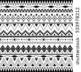 ethnic ornament in black and... | Shutterstock .eps vector #533978212