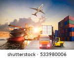 logistics and transportation of ... | Shutterstock . vector #533980006