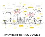 air pollution vector... | Shutterstock .eps vector #533980216