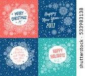 merry christmas  happy holidays ... | Shutterstock .eps vector #533983138