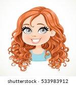 beautiful brunette girl with... | Shutterstock .eps vector #533983912
