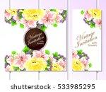 vintage delicate invitation... | Shutterstock . vector #533985295