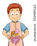illustration of a little boy... | Shutterstock .eps vector #533989162