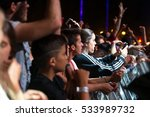 madrid   sep 10  the crowd in a ... | Shutterstock . vector #533989732