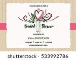 bridal shower vector template.... | Shutterstock .eps vector #533992786
