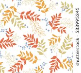 leaf illustration pattern | Shutterstock .eps vector #533995345