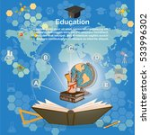 time to education infographics  ... | Shutterstock .eps vector #533996302