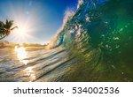 ocean water wave. | Shutterstock . vector #534002536