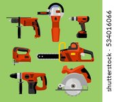 power tools icons set  drill ... | Shutterstock .eps vector #534016066