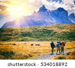 group of travelers with... | Shutterstock . vector #534018892