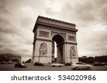 arc de triomphe and street view ... | Shutterstock . vector #534020986