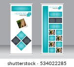 roll up banner stand template.... | Shutterstock .eps vector #534022285