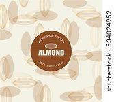 almonds template   vector... | Shutterstock .eps vector #534024952