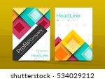 set of front and back a4 size... | Shutterstock .eps vector #534029212